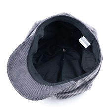 TQMSMY Unisex Octagonal hat men autumn corduroy fabric gorras planas men's Newsboy Cap women solid color hats for men Berets