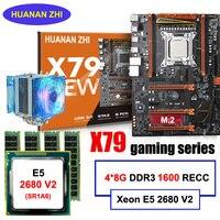Хорошее качество HUANAN Чжи deluxe скидка X79 материнской платы с M.2 слот Процессор Xeon E5 2680 V2 с охладитель ОЗУ 32 Гб (4*8 г) 1600 RECC