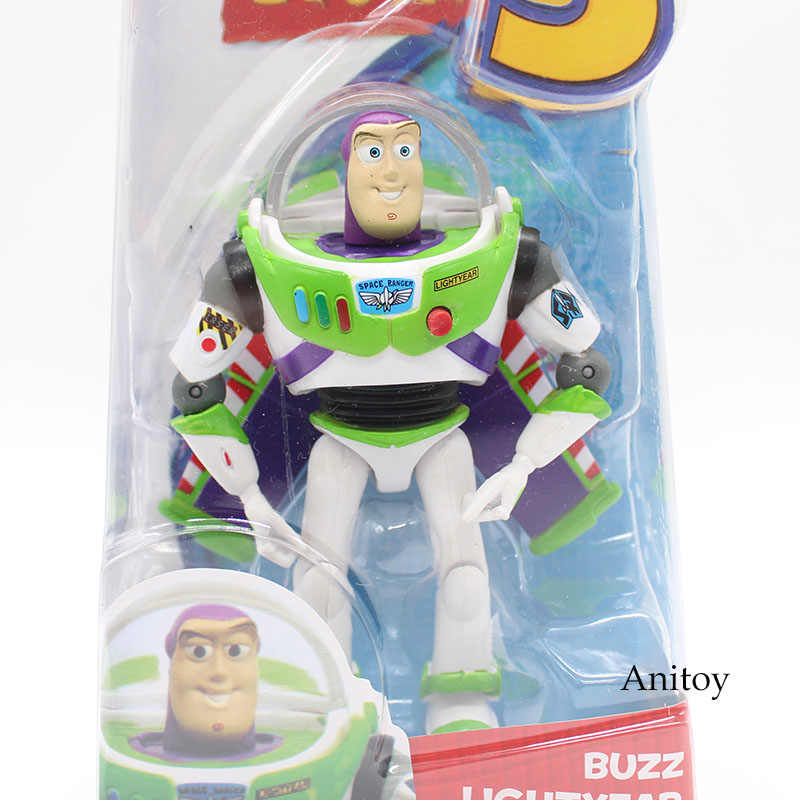 Anime Toy Story Buzz Lightyear 3 PVC Action Figure Collectible Modelo Toy Kids Presentes 14 cm KT446