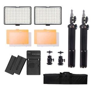 Image 5 - Capsaver TL 160S 2 Takım LED Video Işığı Kamera Işık Fotoğrafik Aydınlatma tripod standı Video Lamba Youtube Fotoğraf Çekimi