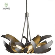 Nordic Industrial pendant light iron Bark hanging lamps living room Kitchen fixtures lighting luminaire
