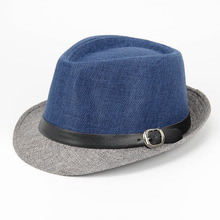 2018 Summer Panama Sun Hats For Men Fashion Color Block Jazz Hat Women Beach Caps Sombreros Hombre Verano