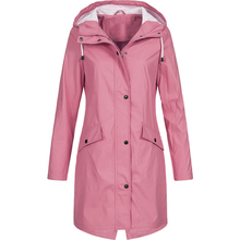 Women Fashion Long Sleeve Hooded Raincoat Windbreaker Hiking Ladies Casual Solid Color Outdoor Water