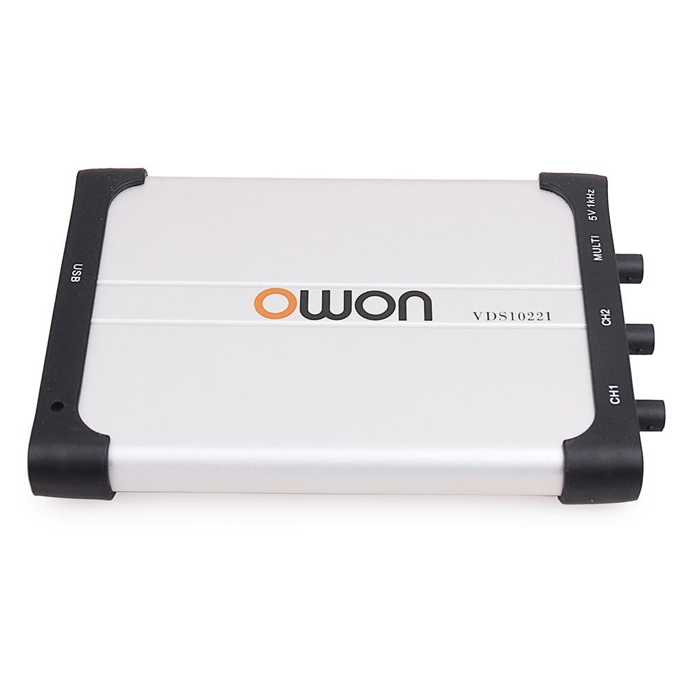 OWON VDS1022 / VDS1022I 25MHz 100MSa/s Sample Rate 2/ 4 Channels PC Digital Oscilloscope