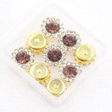 все цены на Colorful Glass Crystal Gold Claw Setting10mm/12mm 20pcs Crystal ab colors Sew on Rhinestone Beads Bags Wedding Dress diy онлайн