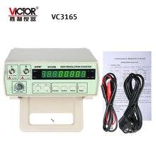 Виктор VC3165 точность счетчик частоты частотомер цифровой частотомер 0,01 Гц-2,4 ГГц 2 входных каналов AC/DC муфта 8-разрядный