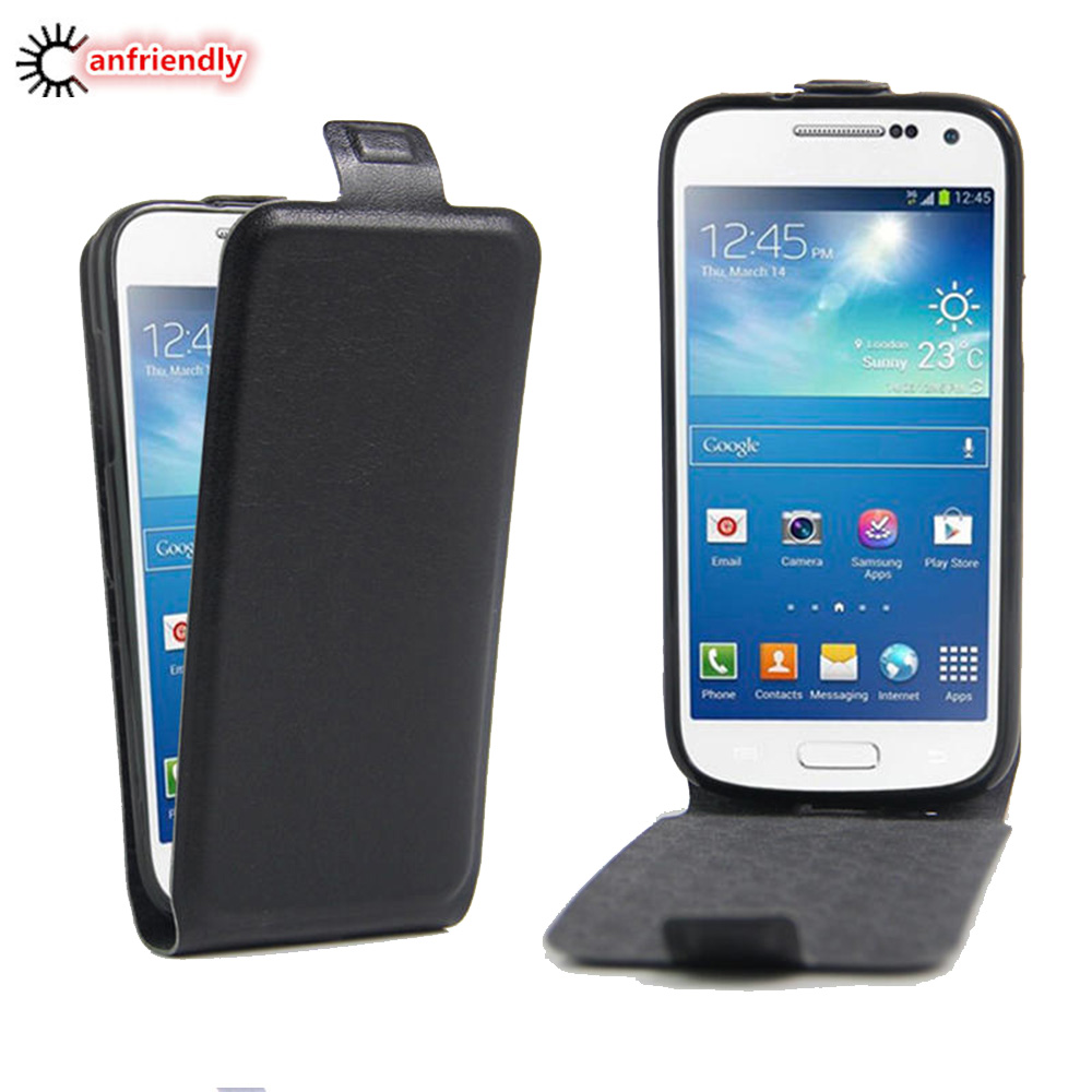 Caso de la Cubierta de Cuero Del Tirón de lujo Para El Coque Samsung Galaxy S4 M