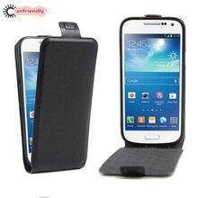1b7d80f73d4 De Lujo Flip Funda de cuero para Coque Samsung Galaxy S4 Mini I9190 I9192  I9195 teléfono móvil casos S4Mini volver teléfono Retr.