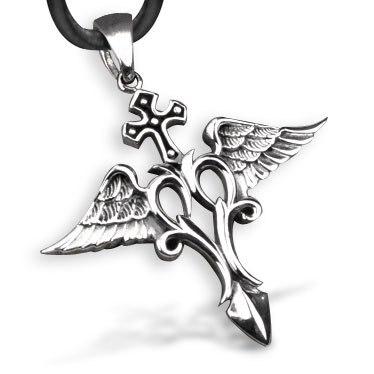 Bahamut archangel raphael raffaele cross angel necklace pendant 925 bahamut archangel raphael raffaele cross angel necklace pendant 925 sterling silver necklace aloadofball Images
