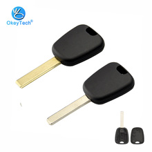 OkeyTech Uncut HU83 Groove VA2 Blank Blade Transponder Auto Car Key Cover Replacement Case for Peugeot for Citroen C2 No Chip