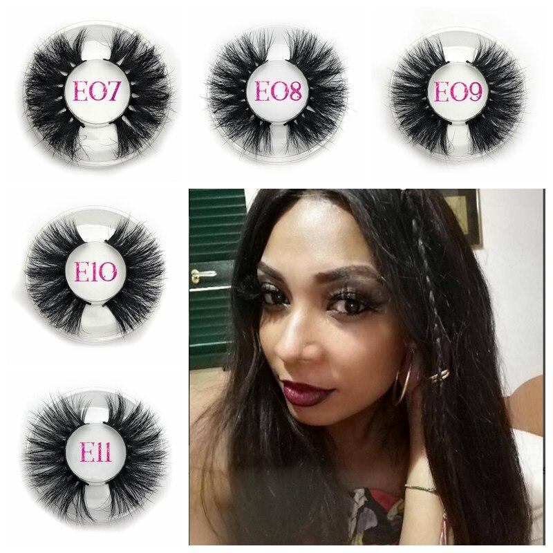 Mikiwi 25mm Long Natural False Eyelashes Thick Faux Lashes Eyelash Extension Wholesale private label lashes