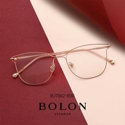 BOLON Optische Gläser Rahmen für Frauen Cat Eye Brille Rahmen Mode Frauen Cat Eye Brillen BJ7062
