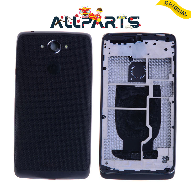 Original New Plastic Rear Housing Door For Motorola Droid Turbo Back Battery Cover Case XT1254 XT1225 For Moto Maxx Assembly
