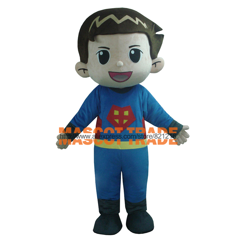 Foam Head Mascot Costumes First Aid And Cool Kids Clothing Mini Super Man Mascot Costume for Halloween party event