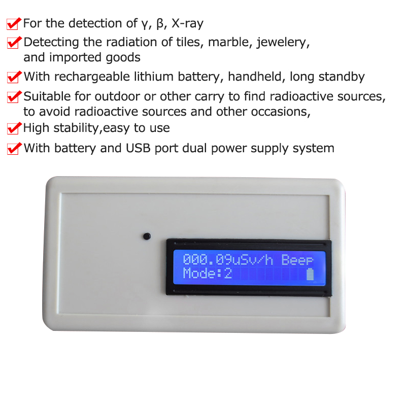 Geiger Counter Nuclear Radiation Detector Professional Beta Gamma X-ray Y-ray B-ray Tube Dosimeter Marble Radioactive Monitor fs2011 nuclear radiation detector tester radioactive particles geiger counter personal dose alarm chinese and english system