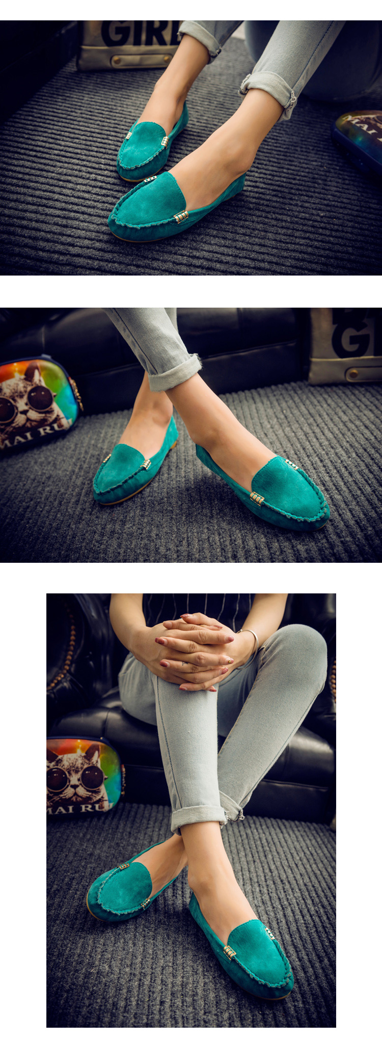 HTB19q5VfYrpK1RjSZTEq6AWAVXa6 Plus Size 35 43 Women Flats shoes 2019 Loafers Candy Color Slip on Flat Shoes Ballet Flats Comfortable Ladies shoe zapatos mujer