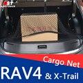 Estilo do carro De Carga Nylon Net Para Organizador Mala Do Carro Para Toyota RAV4 Cobertura De Carga de Armazenamento de Bagagem Com 4 Ganchos Para Nissan X Trail-