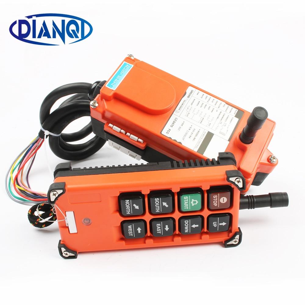 220V 380V 110V 12V 24V Industrial remote controller switches Hoist Crane Control Lift Crane 1 transmitter + 1 receiver F21-E1B цена