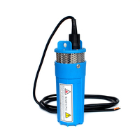 DC 24V 360LPH 70M Lift,Small Submersible Solar energy Water Pump Outdoor Garden Deep Well Car Wash bilge Cleaning 24 v volt,blue