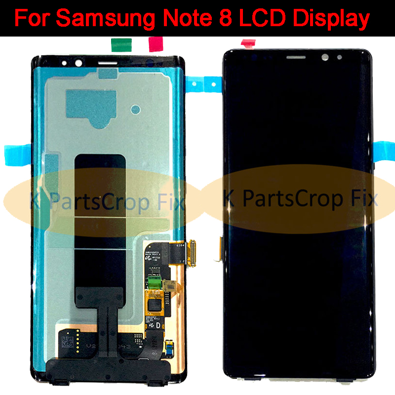 100 tested super amoled lcd dispaly for samsung pro note 8 SM N9500 SM N950F lcd