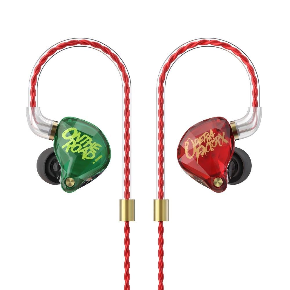 OperaFactory OM1 In Ear Earphone HIFI DJ Monito Running Sport Earphone With Detachable Detach MMCX Cable Bass Earphone Headset new customized audio diamond om1 3 5mm dj super bass earphone headset earplug 2pin hifi ofc cable dynamic drive in ear earphone
