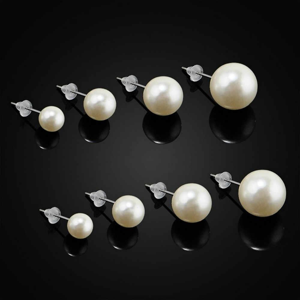 1Pcs Trendy Elegante Gouden Parels Verklaring Oorringen Nieuwe Merk Ontwerp Voor Wedding Party Gift 4mm 6mm 8mm