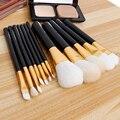 Hotrose Lã Pincéis de Maquiagem 12 pcs Profissional Sobrancelha Fundação Pó Sombras Batons Cosméticos Escovas Ferramentas de Maquiagem Kits