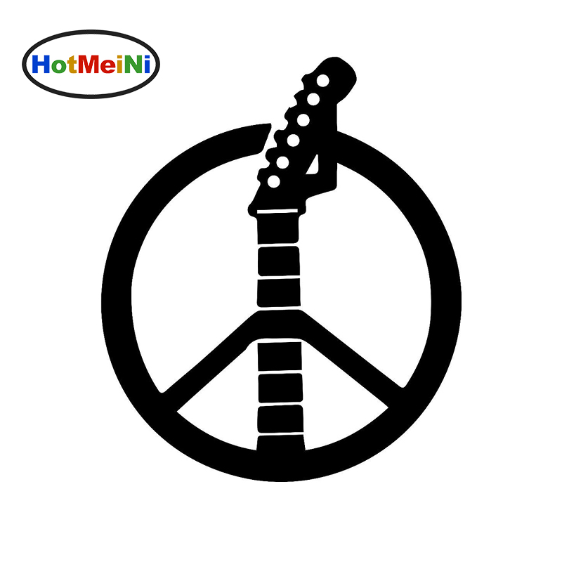 58cm x 58cm 2 x Peace Sign Music Guitar Graphical (one For Each Side)Car Sticker For Truck Window Auto Door Vinyl Decal 9 Colors