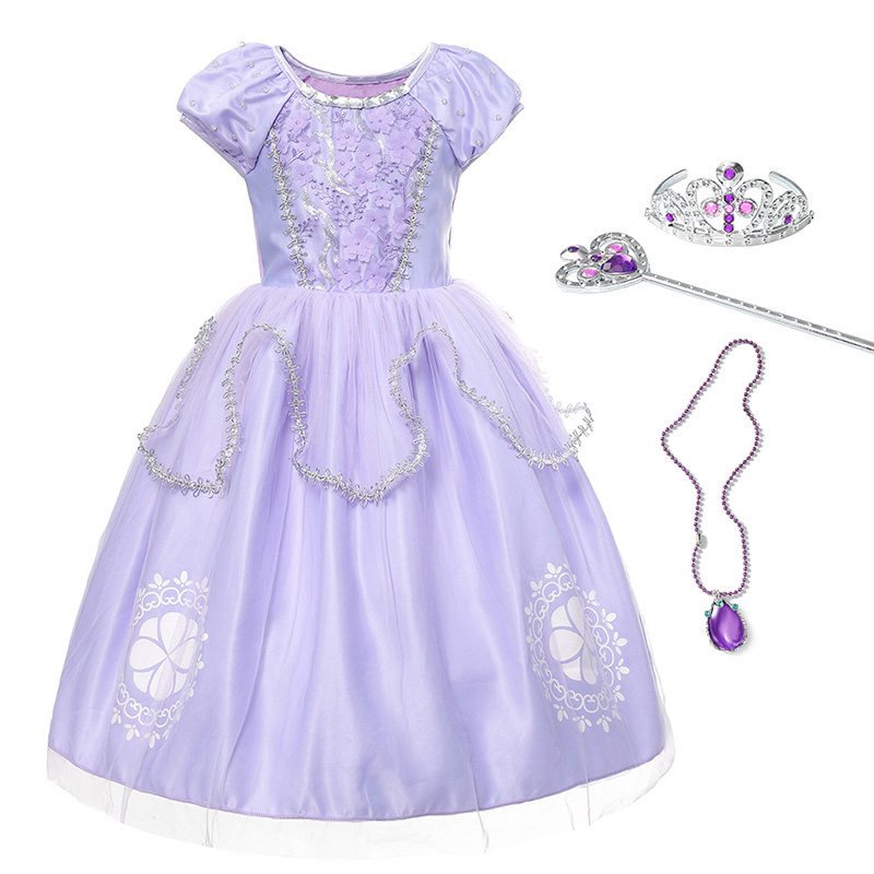 Sofia Princess Dress Kids Cosplay Costumes Girls New Arrival: YOFEEL Children Sofia Dress Girls Beadings Costume Cosplay