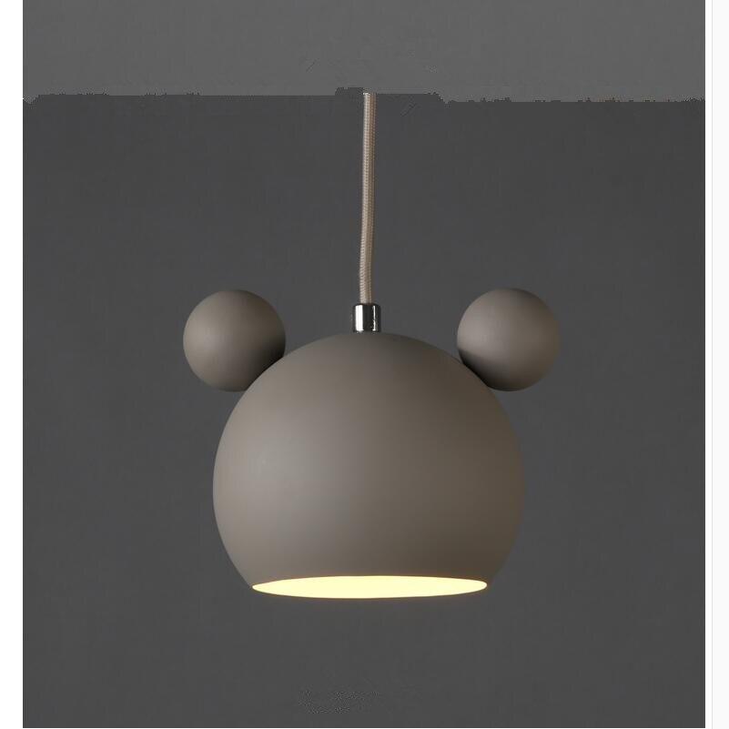 Art moderne belle Mickey Mouse fer pendentif lumières cadeau mignon métal pendentif lampes nordique pas cher fer suspendus lumières Lumianire lampe - 5