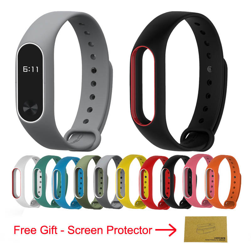 Replacement Strap For Xiaomi Mi band 2 band2 Smart band Bracelet Double Color Wrist Strap Multi-colors Accessories For Mi Band 2 цена