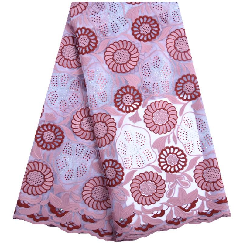 African Rhinestones Milk Silk Lace Fabric 2019 High Quality Nigerian French Net Lace Fabrics For Wedding