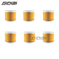 6 Pcs Motorcycle Oil Filter For CB1100 RBSC05 81 CB1100 RC,RDSC08 1982 1983 GL1200 Gold Wing 1984 1987