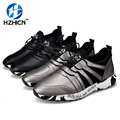 HZHICN Men Shoes Casual High Quality Fashion Casual Shoes Men 2 Colors Lace-Up Shoes zapatos hombre Size 39-44
