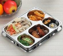 Edelstahl isolierung snack platte dichtung fach bento lunch box isolierten Lebensmittelbehälter Geschirr teller