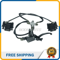 Electric Motorcycle Parts Rear Brake Assy With Two Brake Pads Hydraulic Cable For Electric Motorcycle