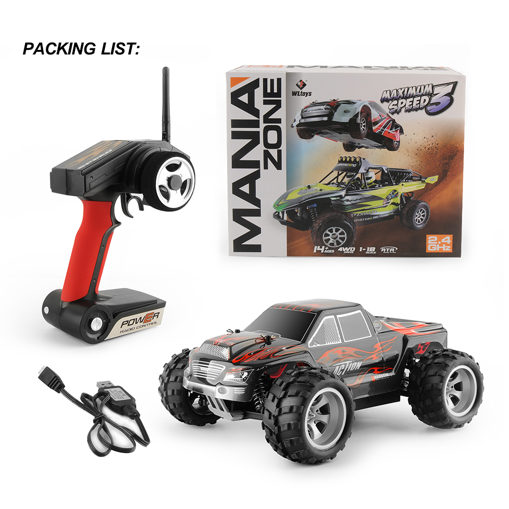 GizmoVine RC CAR Wltoys A979 1/18 2.4GHz 4WD Monster Rc Racing Car Remote Control Cars Radio-controlled Cars Machine Kids Toys loft style iron led pendant light fixtures creative industrial vintage lamp dining room hanging droplight indoor lighting