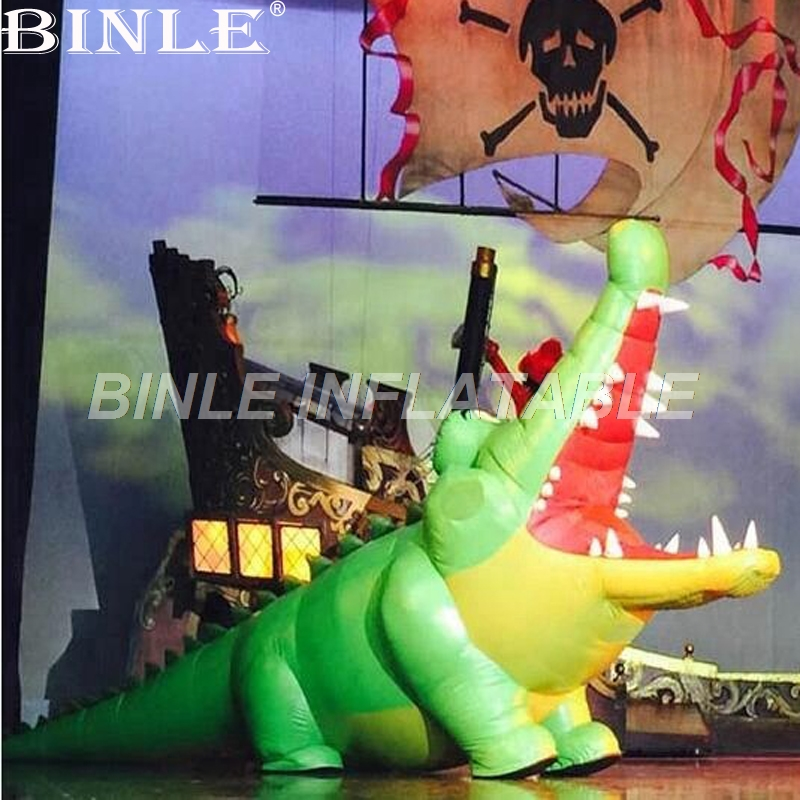 Customized stage props inflatable crocodile alligator animal cartoon for advertising decorationCustomized stage props inflatable crocodile alligator animal cartoon for advertising decoration
