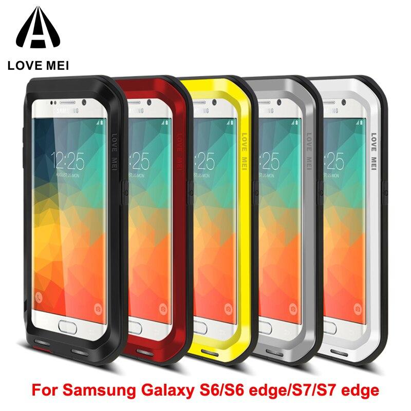 imágenes para 2017 Amor Mei Vida A Prueba de Agua Anti-golpe De Aluminio Cajas Del Teléfono Bolsa para Samsung S6 Para Samsung S6edge/borde S7/S8 de Cuerpo Completo cubierta