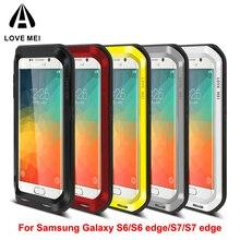 Tình yêu Mei Chống kích nổ Nhôm Trường Hợp Điện Thoại cho Samsung Galaxy s7 Cạnh Trường Hợp đối Với Samsung Galaxy S6 S7 Cạnh S8 Trường Hợp Che 4 32 64 GB