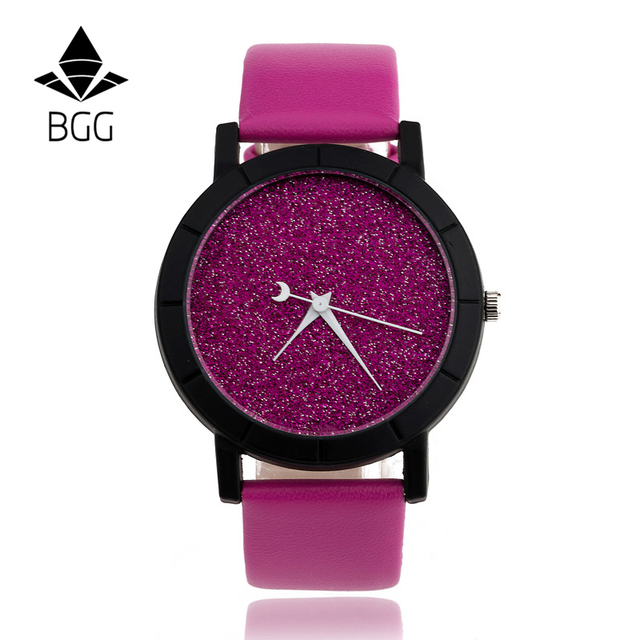 Cute Moon Stars Design Analog Wrist Watch Women Unique Romantic Starry Sky dial Casual Fashion quartz watches Woman Girl Gift 3