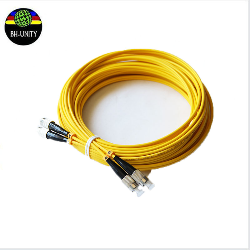 5pcs/lot zhongye myjet liyu JHF solvent printer 6m double head round head optical fiber cable date cable