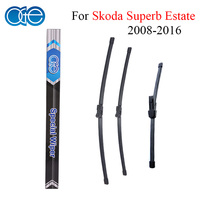 Combo Silicone Rubber Front And Rear Wiper Blades For Skoda Superb 2008 Onwards Windscreen Wipers Car