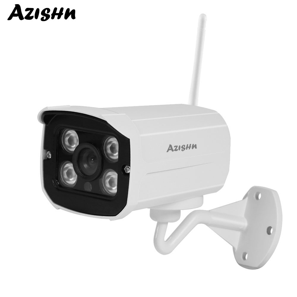 AZISHN Outdoor 720/960/1080P Security Camera Wireless P2P 4IR with IR-CUT Motion Detection Waterproof WIFI IP Cam SD Card Slot