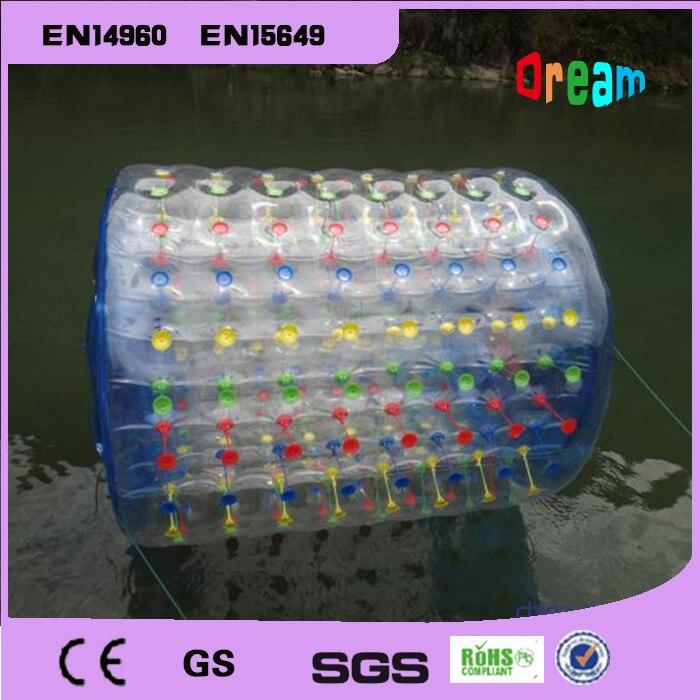 Livraison gratuite 2.2 m PVC gonflable eau rouleau boule eau marche balle gonflable bulle boule géant gonflable jeu de plein air