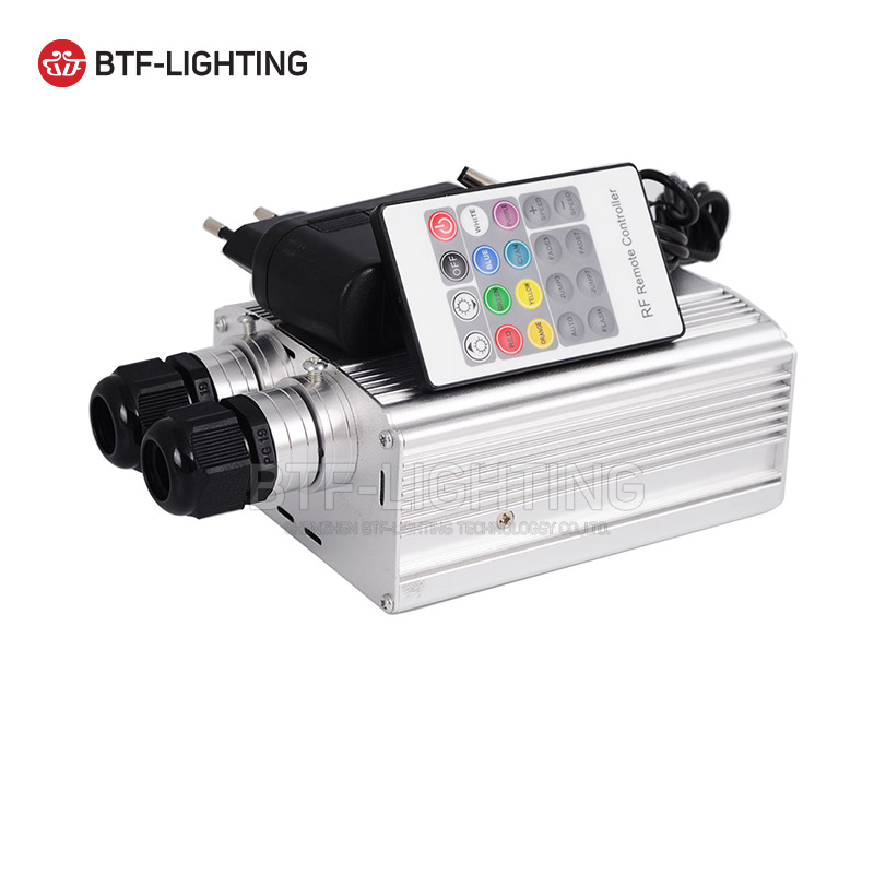 20W LED Fiber Optic Engine Machine Driver Double Head  20key RF Remote White+color wheel,rotational speed,changing patterns mp620 mp622 mp625 projector color wheel mp620 mp622 mp625