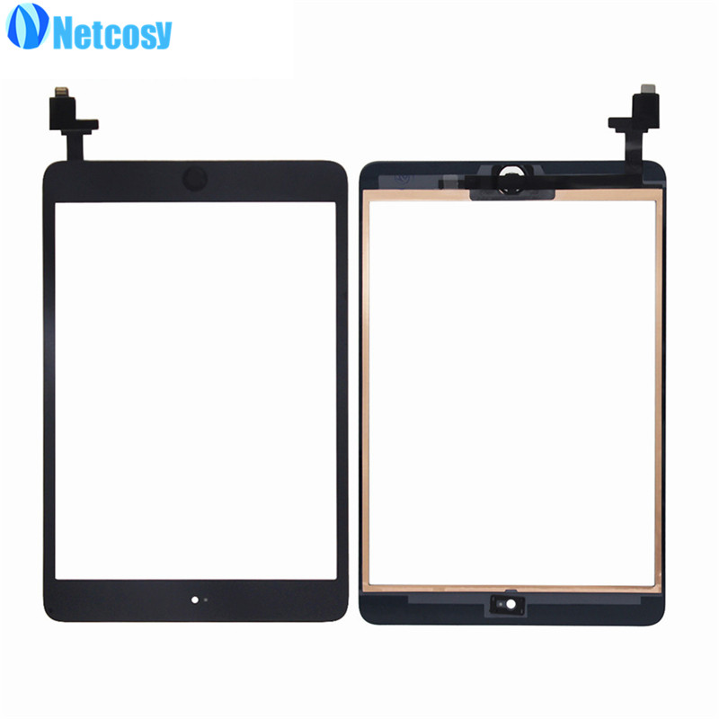 все цены на Netcosy For ipad Mini 1 / 2 Touch Glass Screen Digitizer Home Button Assembly with IC conector For ipad mini 1 2 touchscreen онлайн