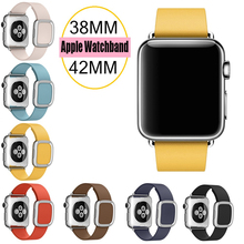 For Apple Watch Band Modern Buckle Band for iWatch bracelet 38MM 42MM Smooth Granada leather for