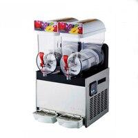 Коммерческие 2 бак Smoothie Maker замороженный напиток слякоть Слякотную машина 220 В/110 В 2 * 15L высокое качество