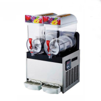 Commercial 2 Tank Smoothie Maker Frozen Drink Slush Slushy Making Machine 220V / 110V 2*15L High Quality